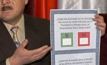El Plebiscito  de Evo Morales en Bolivia, el más reciente antecedente de la solicitud de consulta popular a la prórroga de mandatos.