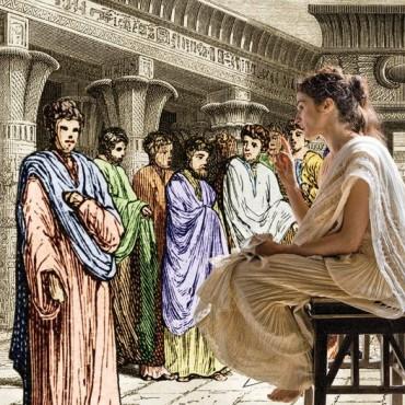 Una mujer, Hipatia.