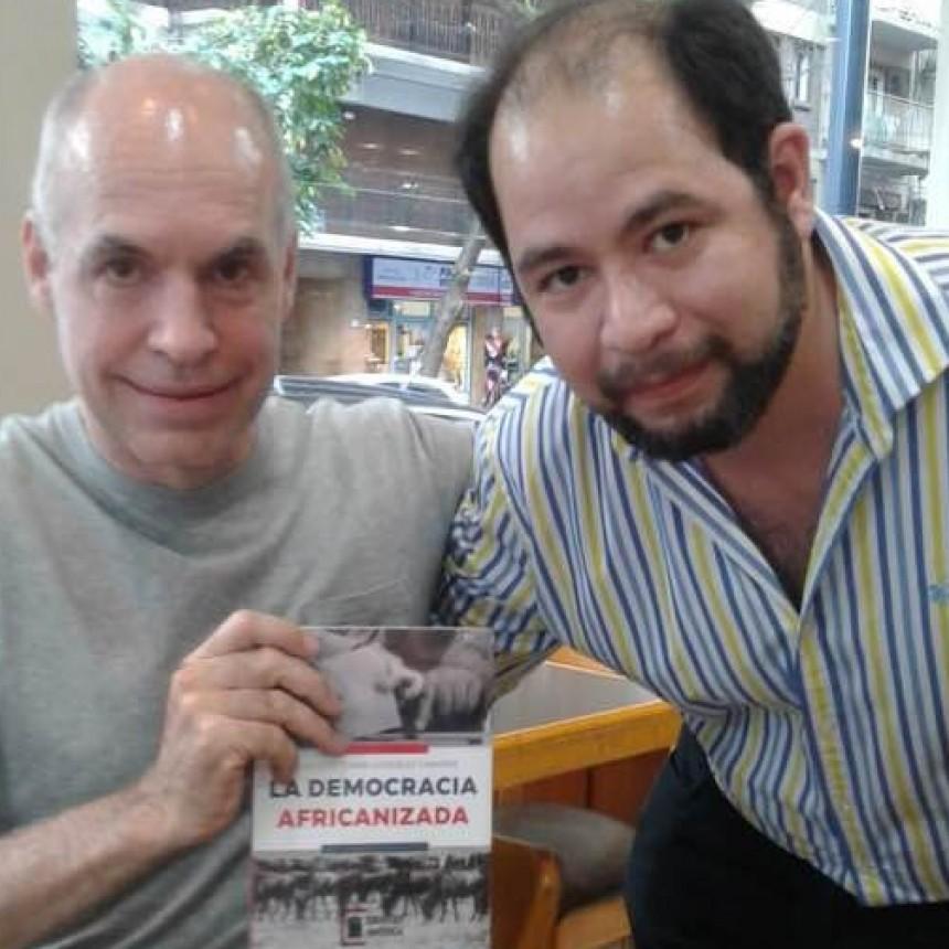 Junto al Jefe de Gobierno Porteño, Rodríguez Larreta, se presentó en Palermo ensayo político de filósofo correntino.