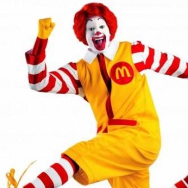 El payaso Ronald de McDonald's es vegano.