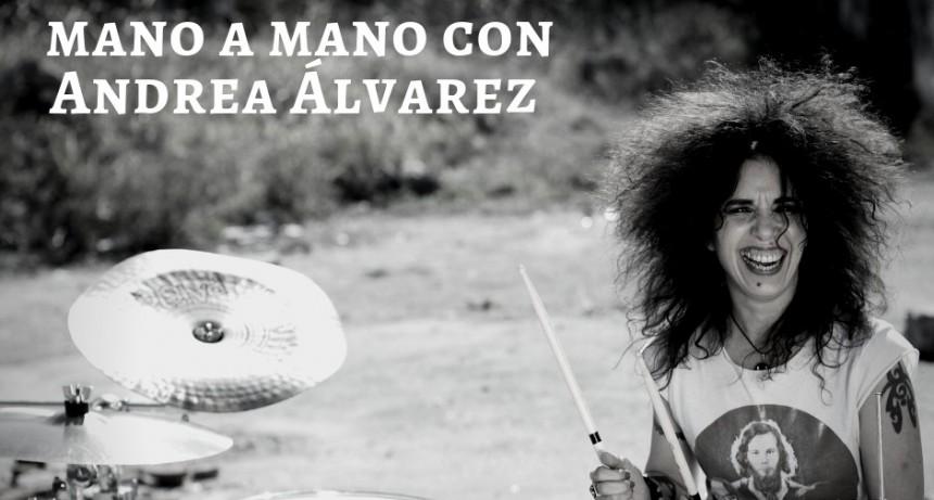 Mano a mano con Andrea Álvarez, el rock en la sangre