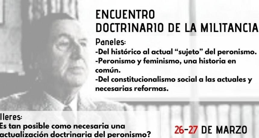 Encuentro doctrinario de la militancia.
