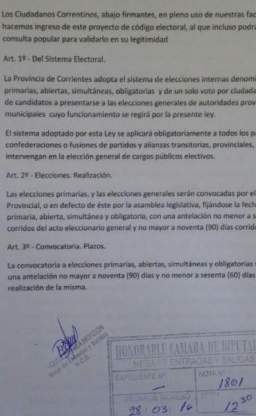 """""""Ciudadanos"""" Presenta Proyecto de Reforma electoral en la legislatura."""