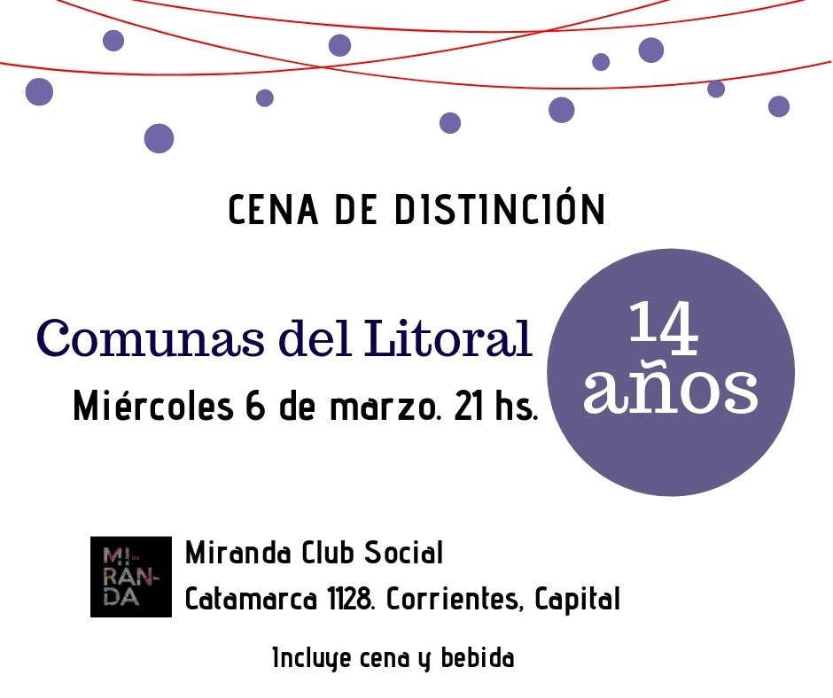 14 años de Comunas del litoral.