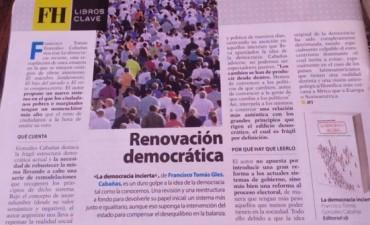 Revista internacional de filosofía destaco en resumen libro del correntino González Cabañas.