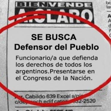 Solicitan al Congreso de la Nación que promueva la designación del Defensor del Pueblo de la Nación.