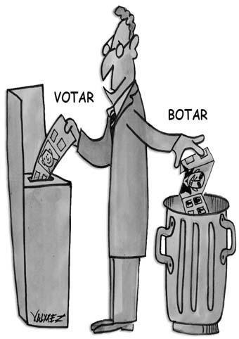 Botar o Votar, la elección clave en donde lo democrático se juega su legitimidad.