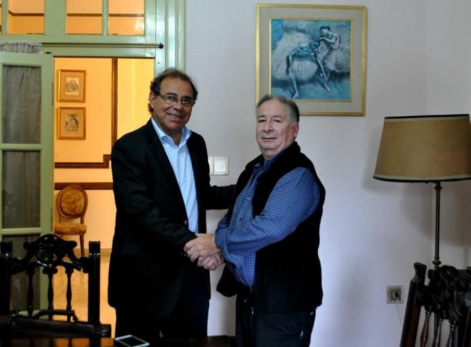 Eduardo Tassano junto al líder del Peronismo Auténtico Walter González Cabañas.