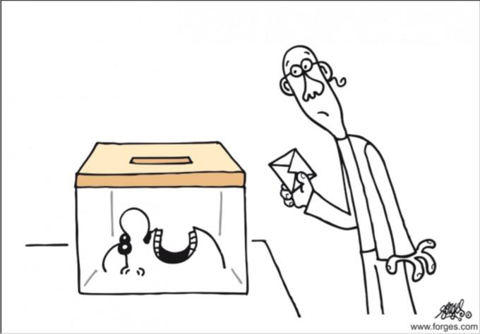 La vulva democrática o de la urna electoral.
