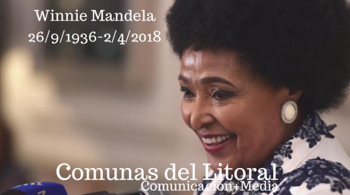 Murió Winnie Mandela, compañera de luchas de Nelson Mandela