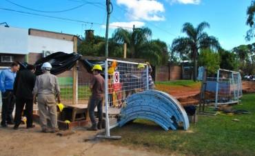 Proverbial Obra de desagüe se desarrolla en la Bella Vista gestionada por el Intendente Chávez.