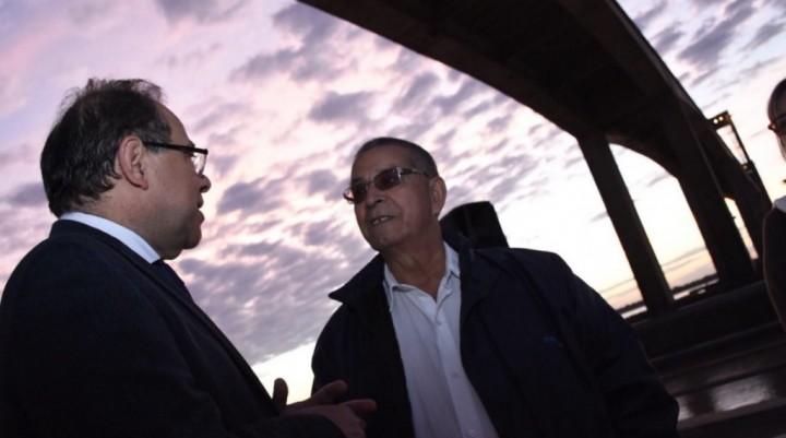 Homenaje a los obreros que construyeron el puente General Belgrano