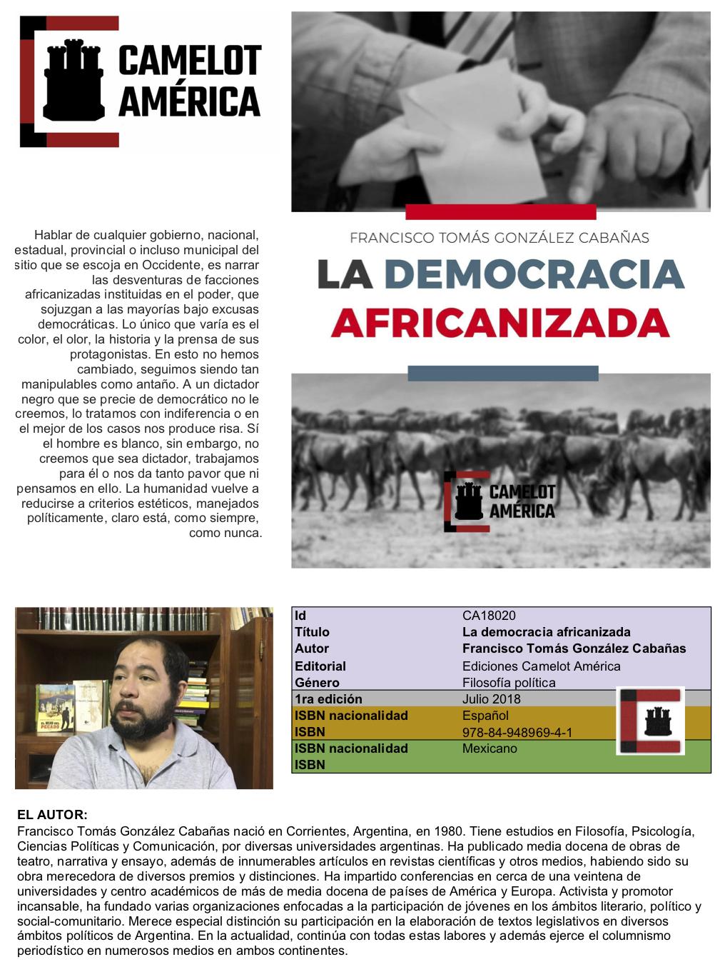 La democracia africanizada o de nuestros estados migrantes de lo democrático.