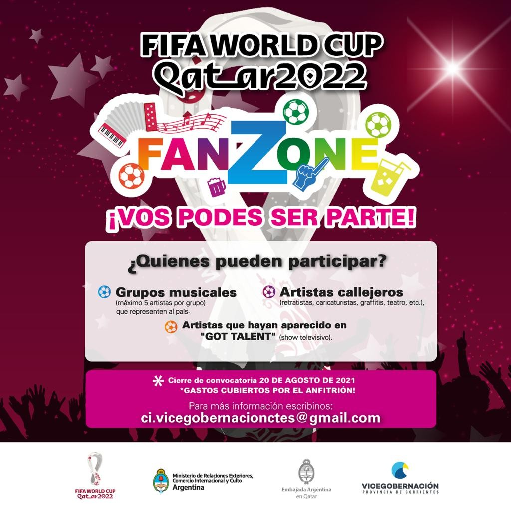 Mundial FIFA Qatar 2022. Convocatoria para Artistas Correntinos.