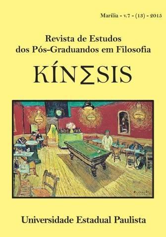 """Autor Correntino publicado en la revista internacional de filosofía """"Kínesis"""" editada por la Universidad Estadual Paulista (Brasil)"""