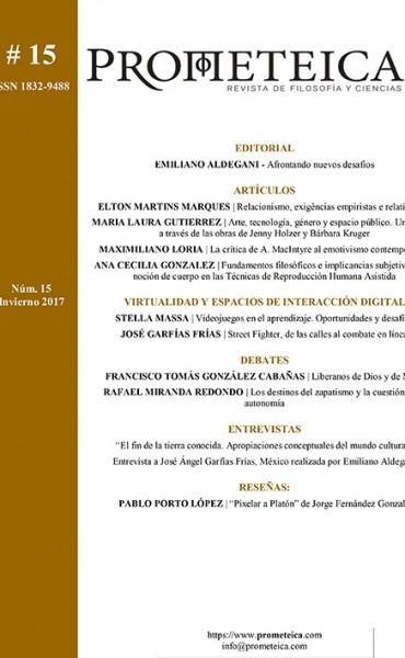 Revista de Filosofía y Ciencias (Universidad de Mar del Plata-Conicet) publica artículo de ensayista Correntino.