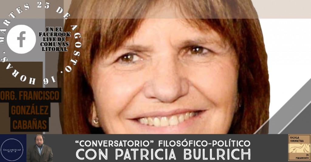 """""""Conversatorio"""" filosófico-político con Patricia Bullrich."""