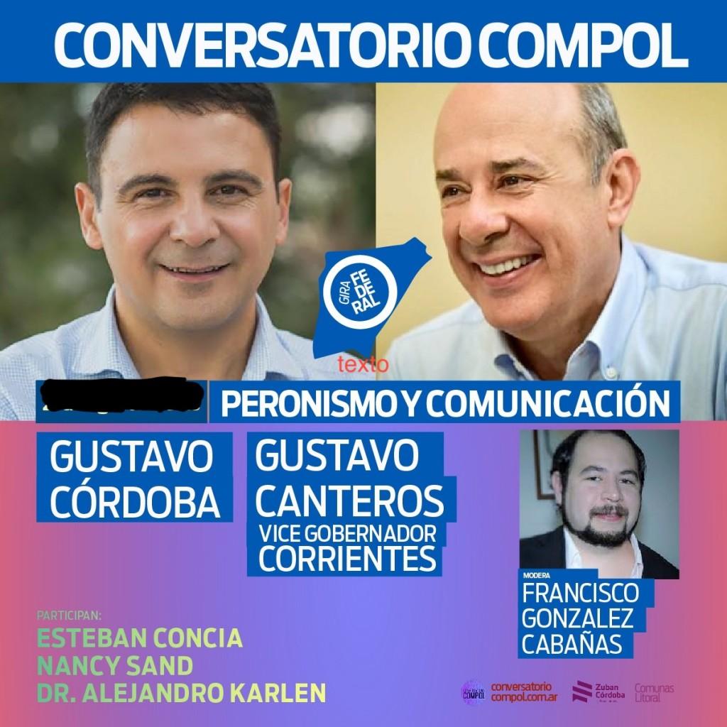 Conversatorio con el Vicegobernador de Corrientes Gustavo Canteros.