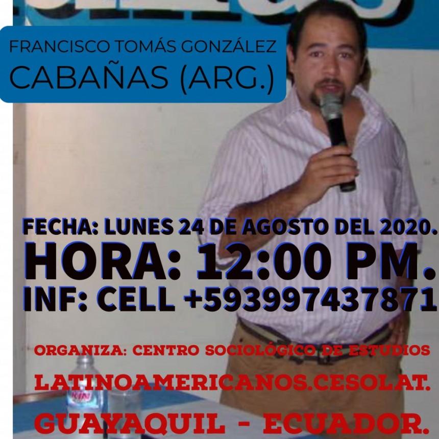 González Cabañas invitado a disertar en el I Seminario Latinoamericano de Sociología.