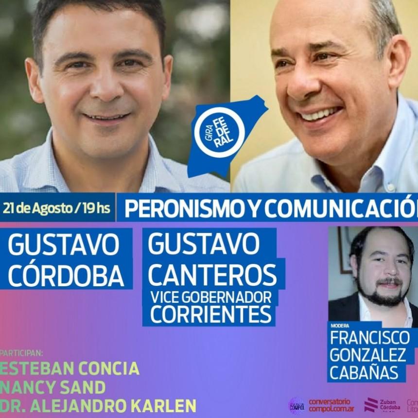 Conversatorio con el Vicegobernador Gustavo Canteros.