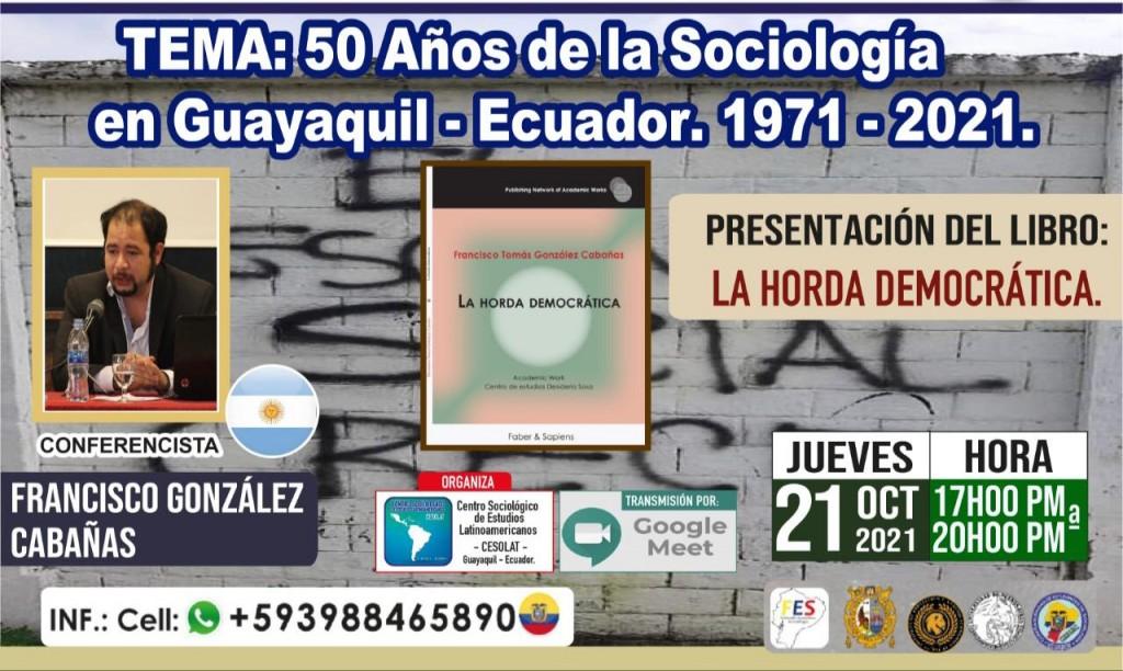 Presentarán en Ecuador libro de miembro de la escuela correntina de pensamiento.