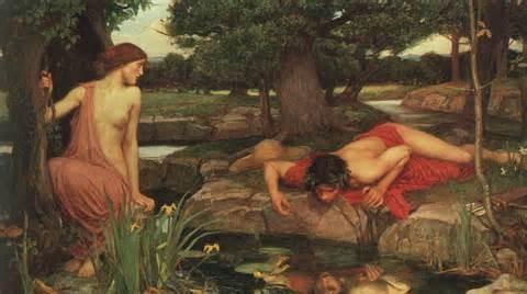Eco fue la única testigo del suicidio de Narciso