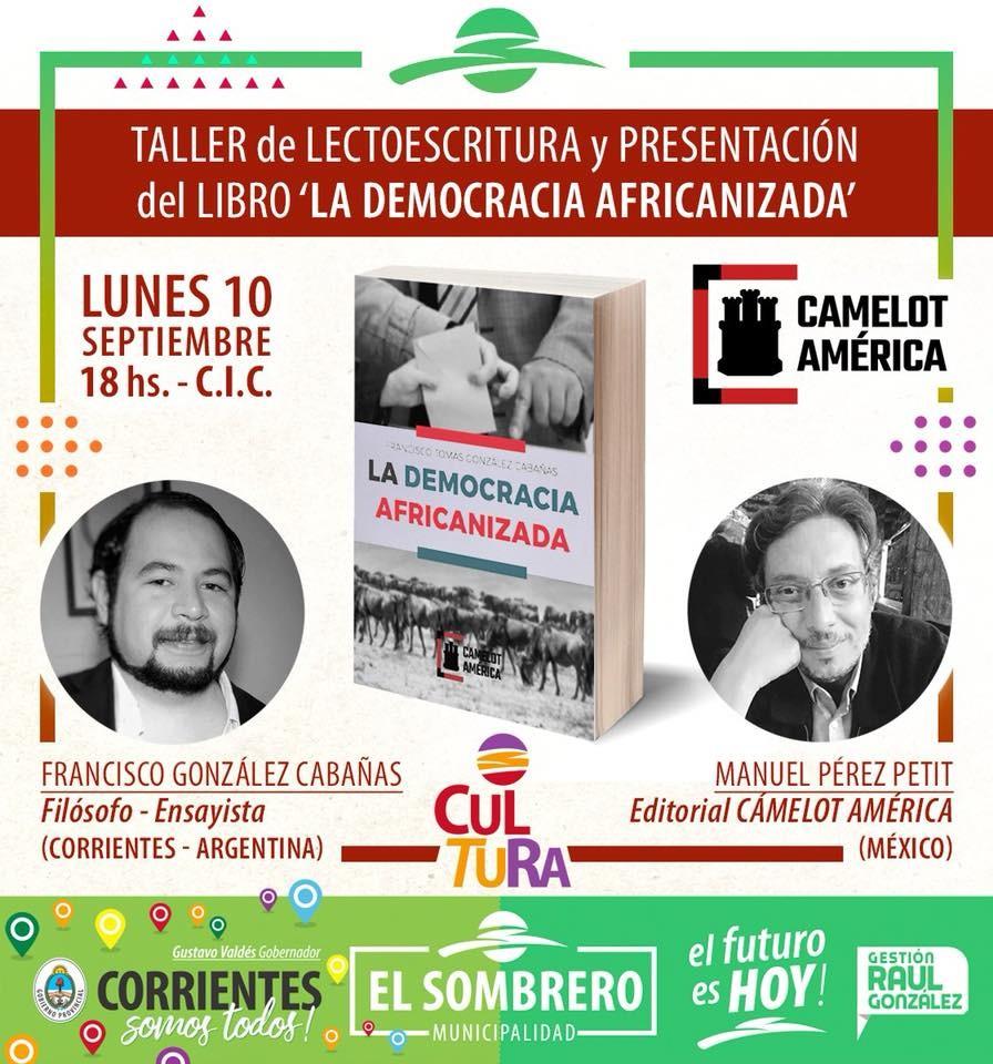 """Presentarán en el """"Sombrero"""" el ensayo la democracia africanizada."""