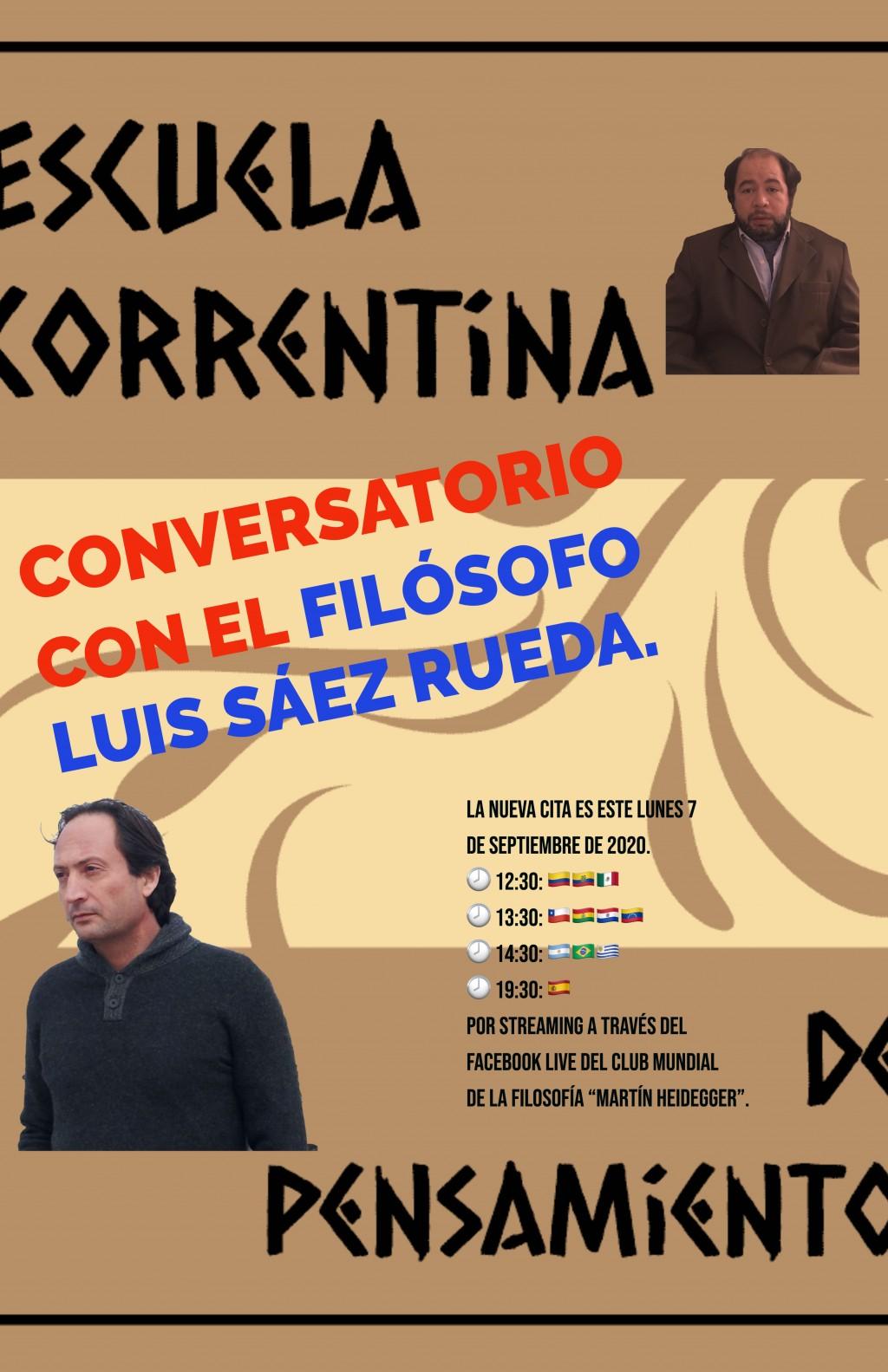 """""""Conversatorio"""" con el filósofo Luis Sáez Rueda."""
