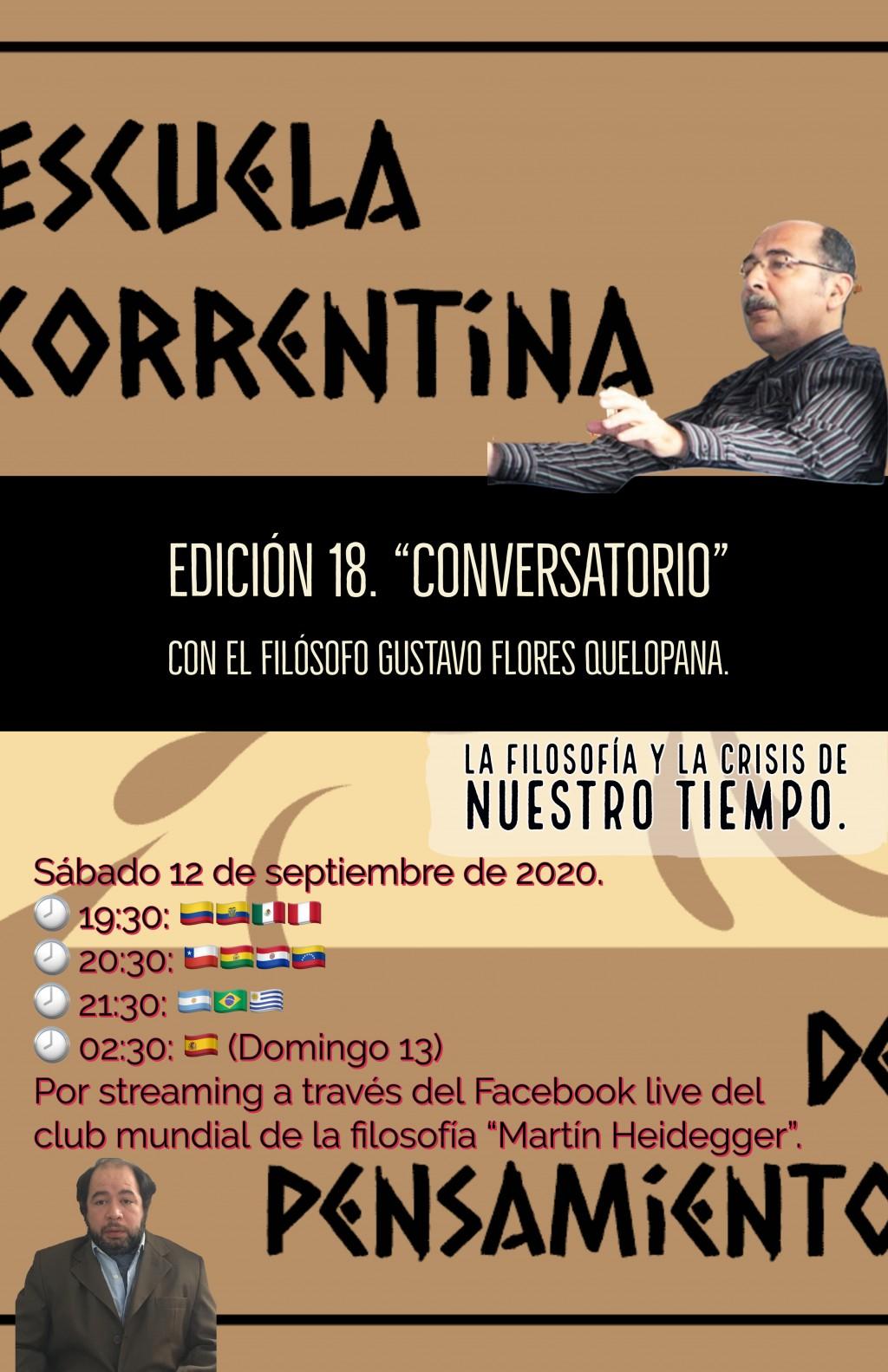 """""""Conversatorio"""" con el filósofo Gustavo Flores Quelopana."""