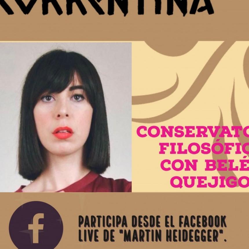 """""""Conversatorio"""" con la filósofa española Belén Quejigo."""