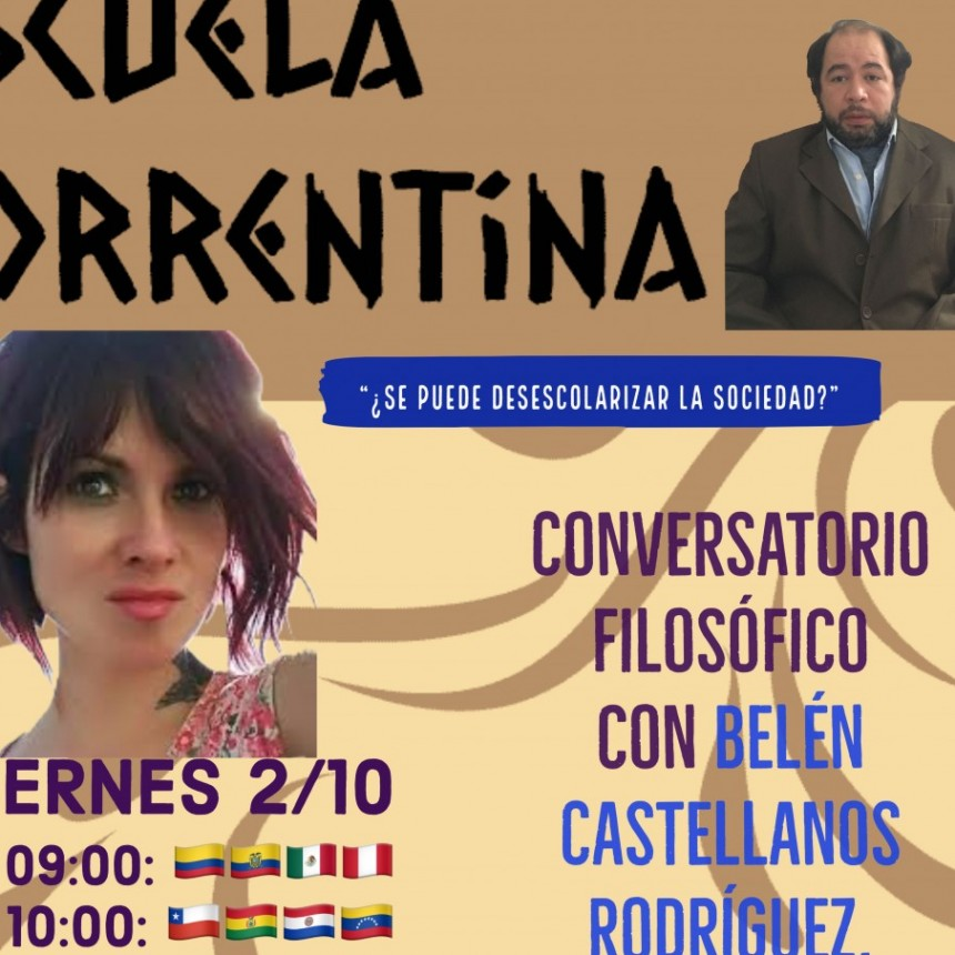 """""""Conversatorio"""" con la filósofa Belén Castellanos Rodríguez."""