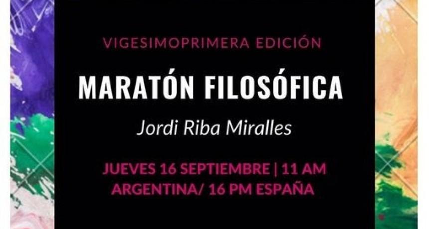 XXI MARATÓN FILOSÓFICA: JORDI RIBA Y LA FRATERNIDAD HUÉRFANA