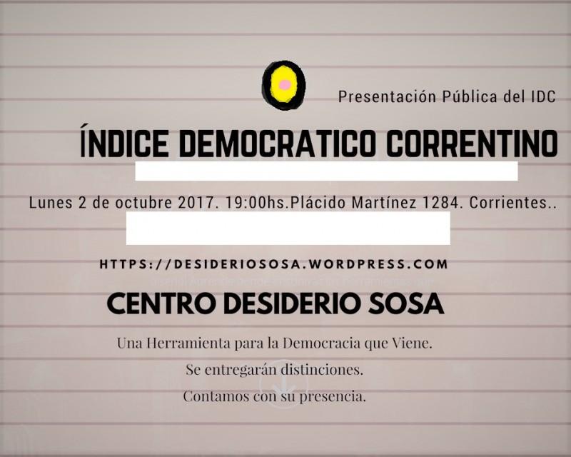 Se presentó el índice democrático correntino