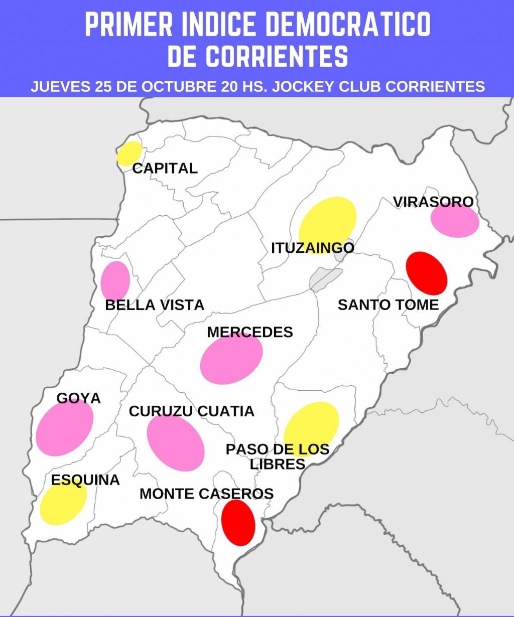 Los tres colores de la democracia en Corrientes.