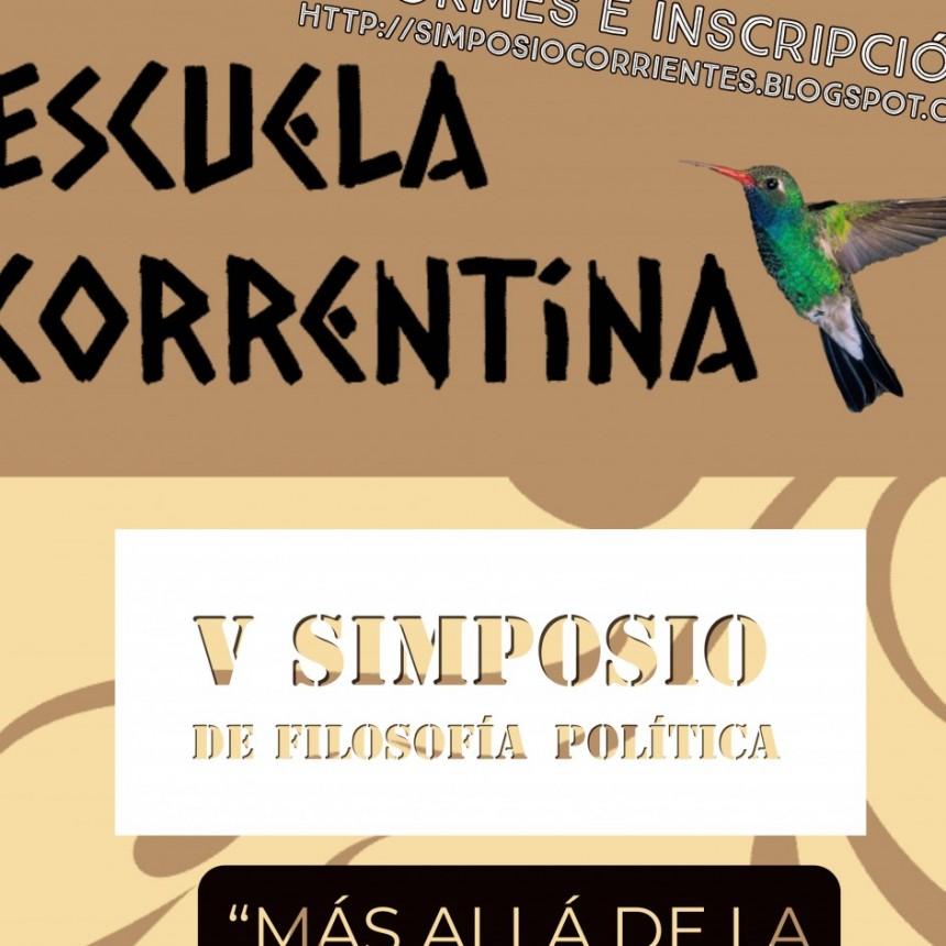 Concluyó el V simposio correntino de filosofía política.