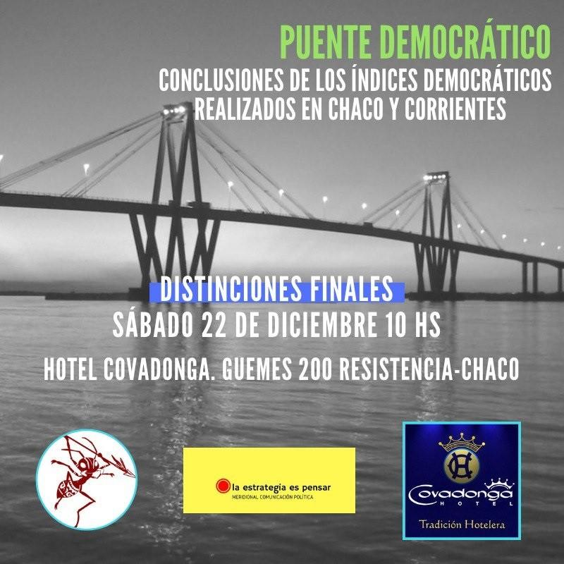 Conclusiones de los primeros índices democráticos en Chaco y Corrientes